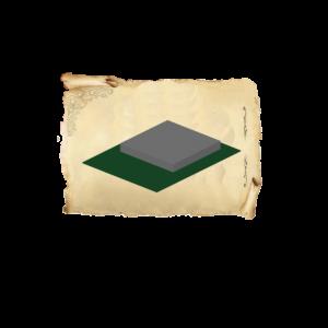 Цолколь бетонный двойной саркофаг без отмостки без площадки под лавочку и стол