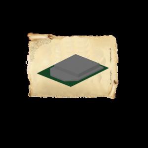 Цолколь бетонный двойной саркофаг с отмосткой с площадкой под лавочку и стол