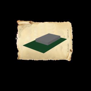 Цолколь бетонный одинарный саркофаг без отмостки без площадки под лавочку и стол